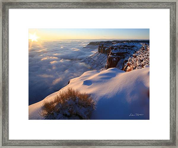 Sunrise Inversion At Buck Canyon Overlook Framed Print