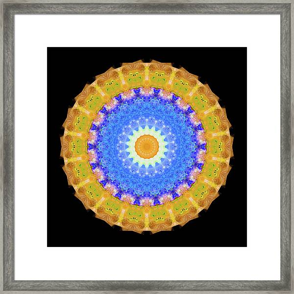 Sunrise Mandala Art - Sharon Cummings Framed Print