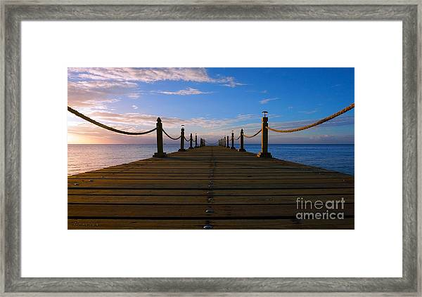 Sunrise Morning Bliss Pier 140a Framed Print