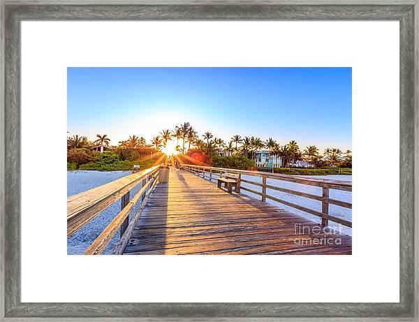 Sunrise Naples Pier Florida Framed Print