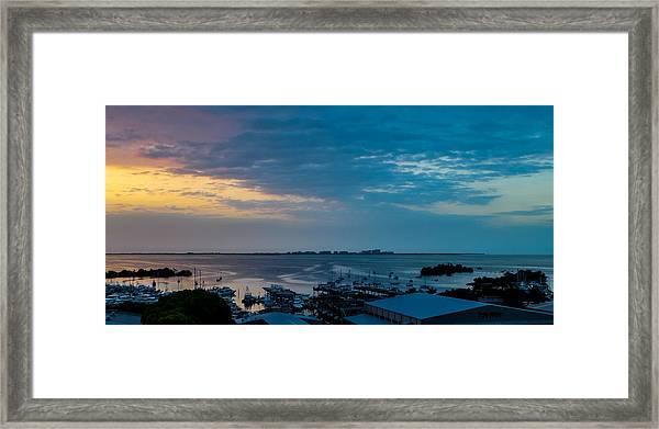 Sunrise On Biscayne Bay Framed Print