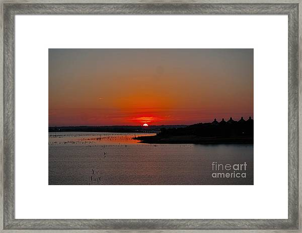 Sunrise On Lake Ray Hubbard Framed Print