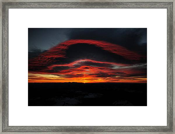 Sunrise On Rainier Framed Print