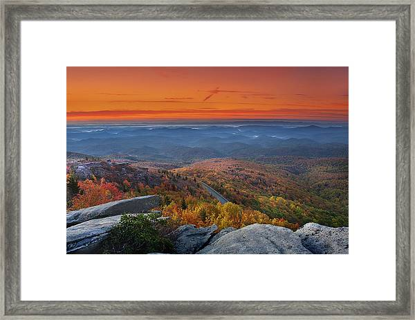 Sunrise On Rough Ridge  Framed Print