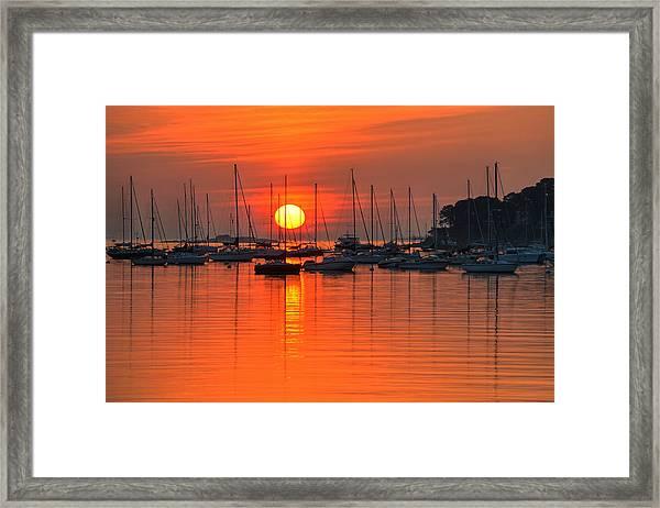 Sunrise On Salem Harbor Salem Ma Framed Print