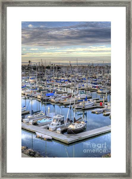 Sunrise On The Harbor Framed Print