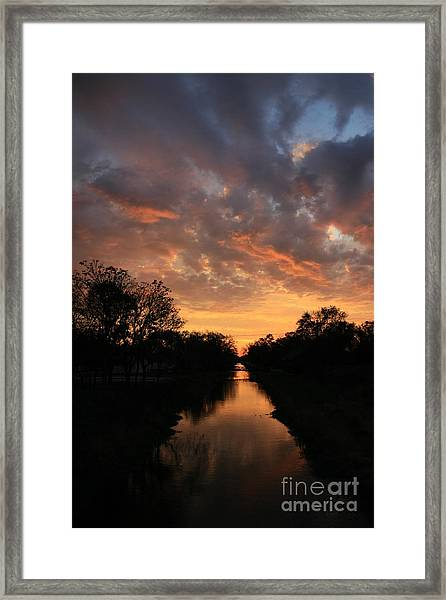 Sunrise On The Illinois Michigan Canal Framed Print