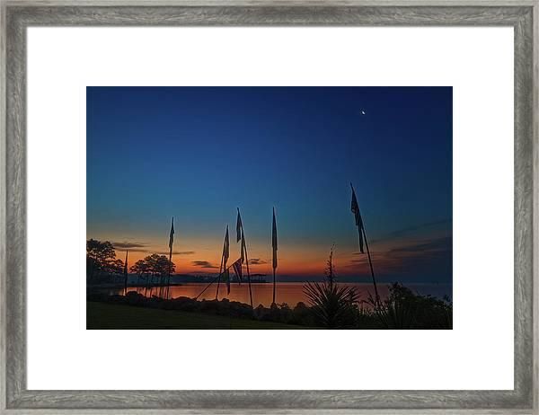 Sunrise On The Neuse 1 Framed Print
