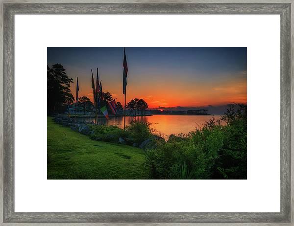 Sunrise On The Neuse 2 Framed Print
