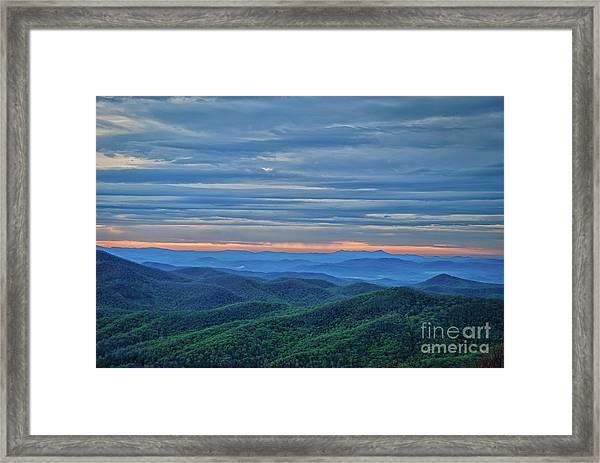 Sunrise On The Parkway Framed Print