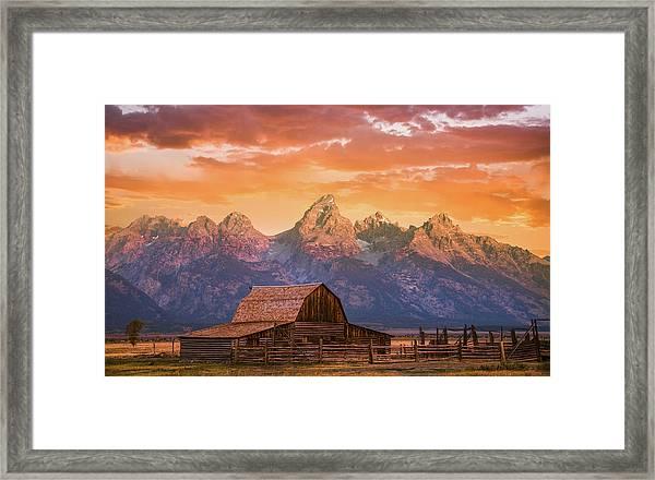Sunrise On The Ranch Framed Print