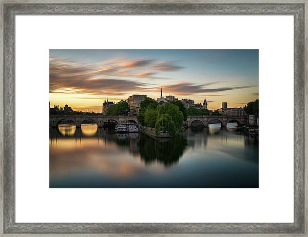 Sunrise On The Seine Framed Print