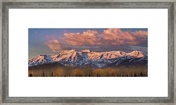 Sunrise On Timpanogos Framed Print