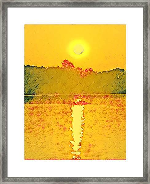 Sunrise On Town Lake Framed Print