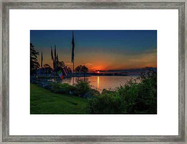 Sunrise On The Neuse 3 Framed Print