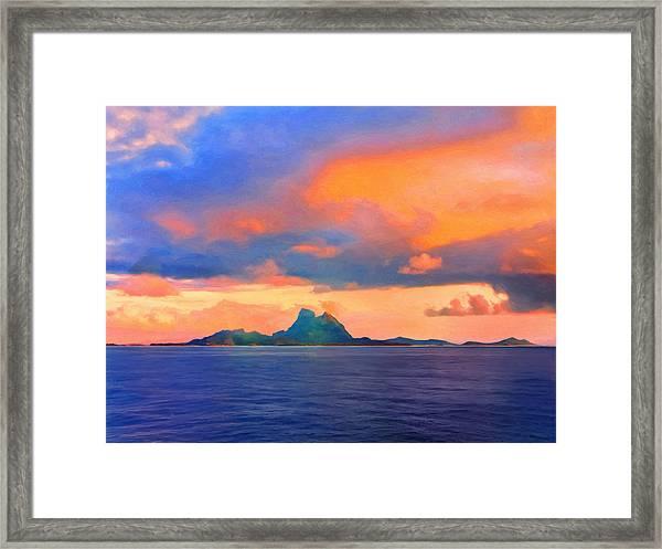Sunrise Over Bora Bora Framed Print
