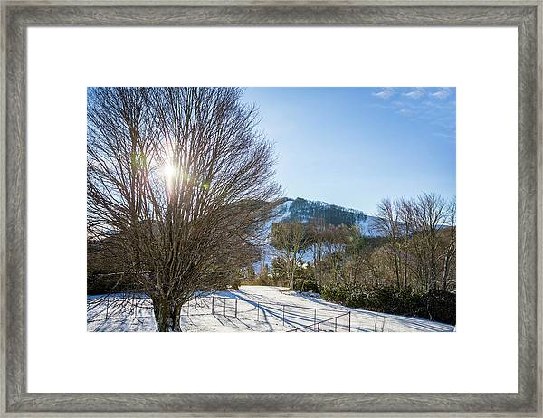Framed Print featuring the photograph Sunrise Over Cataloochee Ski by D K Wall
