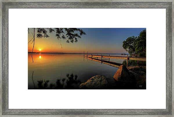 Sunrise Over Cayuga Lake Framed Print
