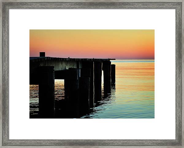 Sunrise Over Chesapeake Bay Framed Print