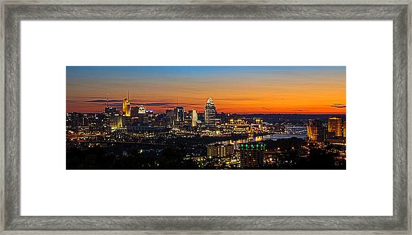 Sunrise Over Cincinnati Framed Print