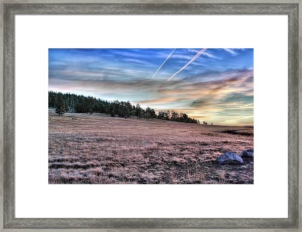 Sunrise Over Ft. Apache Framed Print