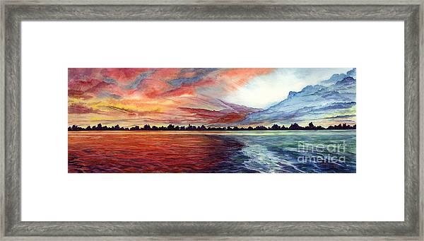 Sunrise Over Indian Lake Framed Print