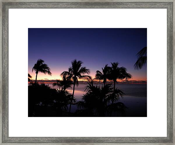Sunrise Over Key West Framed Print