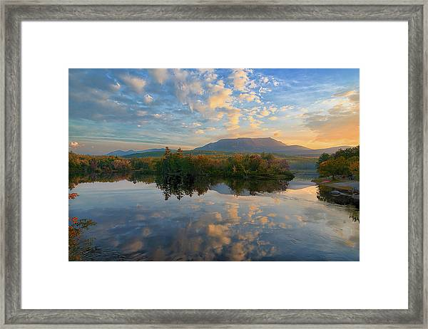 Sunrise Over Mt. Katahdin Framed Print