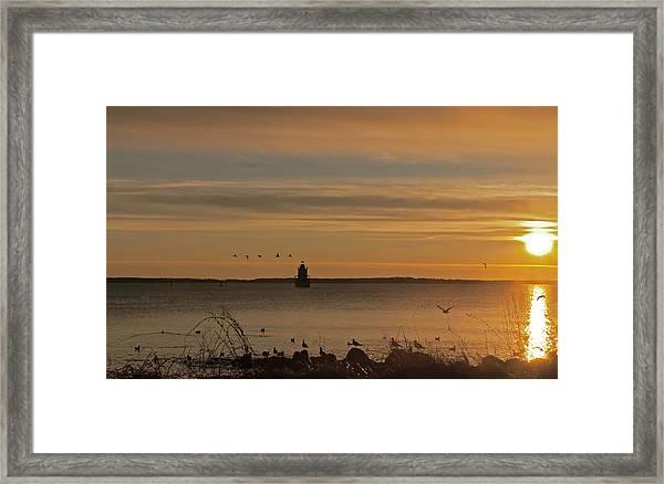 Sunrise Over New Bedford Framed Print