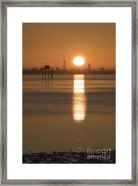 Sunrise Over Portsmouth Framed Print