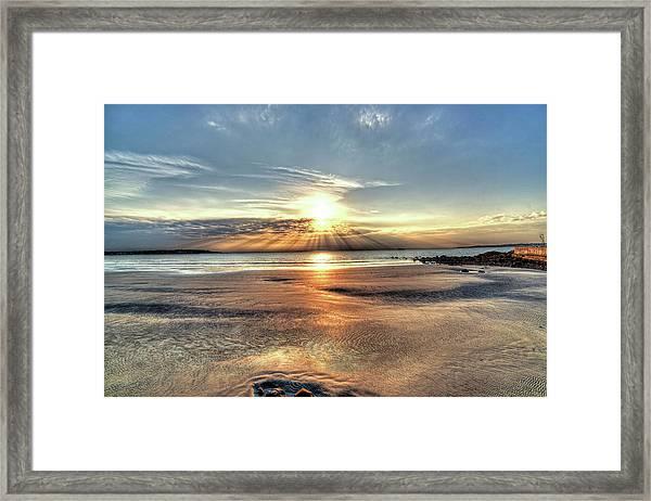 Sunrise Over Red Rock Park Lynn Ma Kings Beach Framed Print