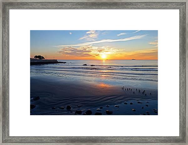 Sunrise Over Red Rock Park Lynn Shore Drive Framed Print