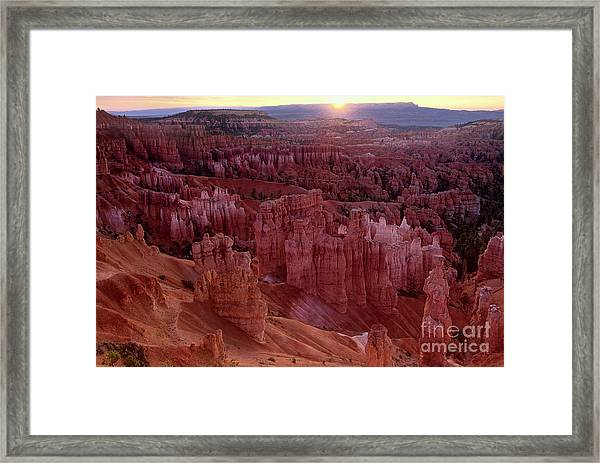 Sunrise Over The Hoodoos Bryce Canyon National Park Framed Print