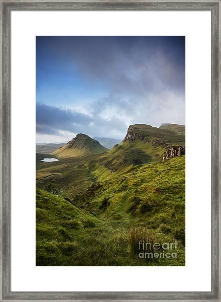 Sunrise Over The Trotternish Ridge Framed Print