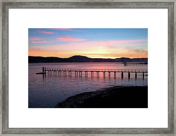 Sunrise Over Tomales Bay Framed Print
