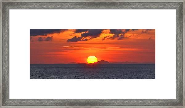 Sunrise Over Western Cuba Framed Print
