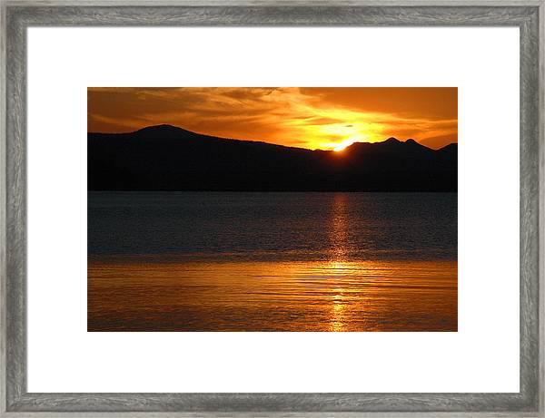 Sunrise Over Yellowstone Lake Framed Print