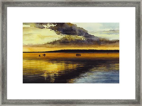Sunrise Rockland Harbor Framed Print