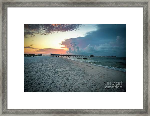 Sunrise Seascape Gulf Shores Al Pier 064a Framed Print