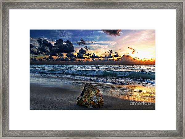 Sunrise Seascape Wisdom Beach Florida C3 Framed Print