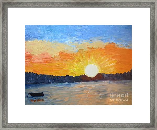 Sunrise At Pine Point Framed Print