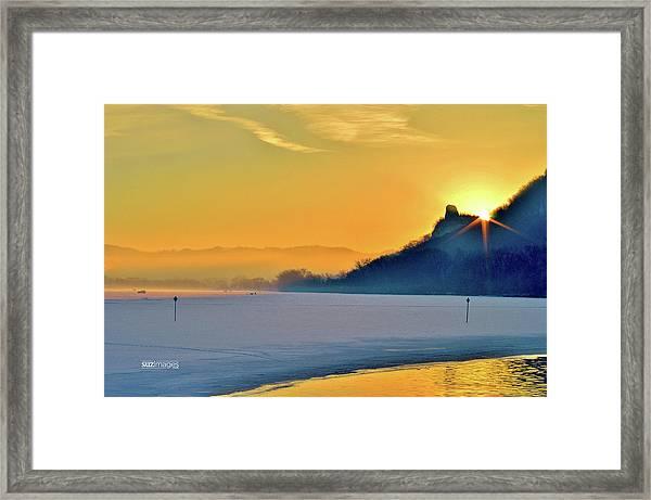 Sunrise Sparkle Framed Print