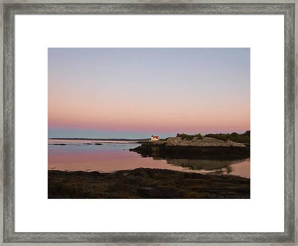 Sunrise Spillover Framed Print