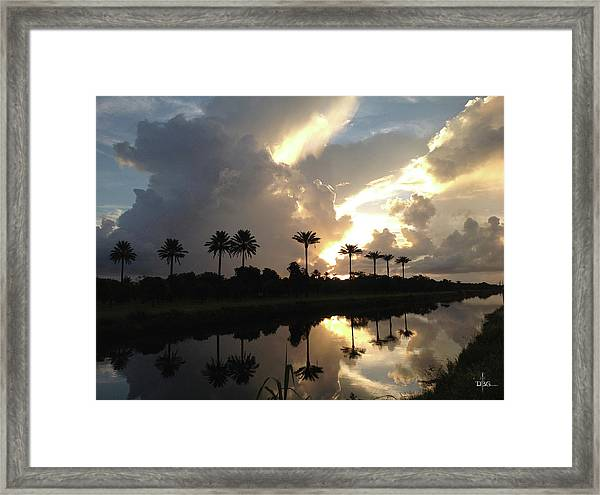Sunrise Storm Framed Print