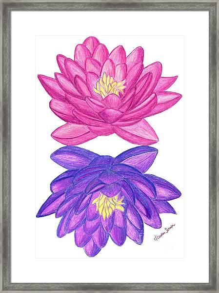 Sunrise Sunset Lotus Framed Print