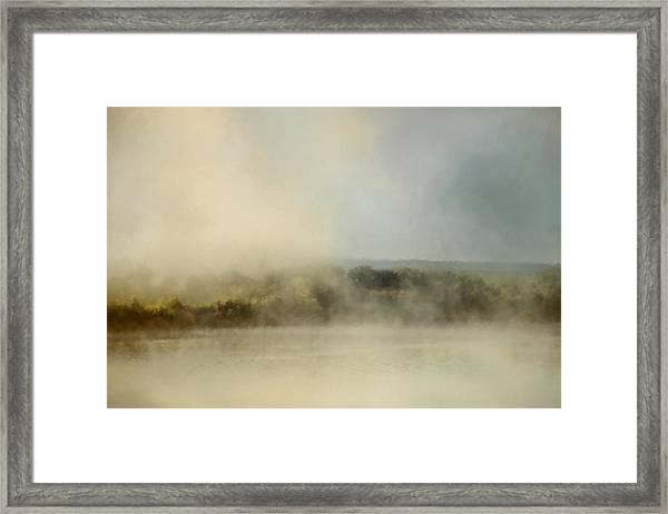 Sunrise Through The Fog Framed Print
