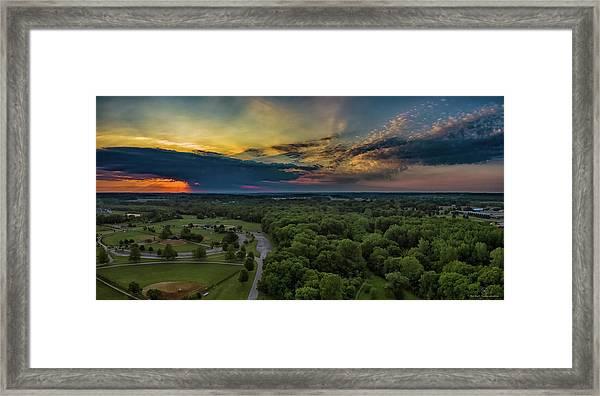 Sunrise Thru The Clouds Framed Print