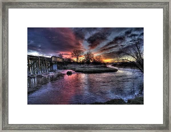 Sunrise Trestle #1 Framed Print