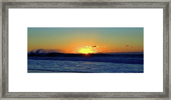 Sunrise Wave I I I Framed Print