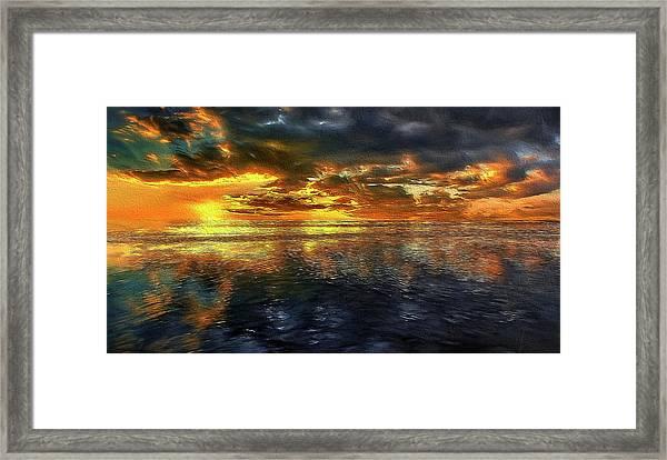Sunset #95 Or Sunset Over The Atlantic. Framed Print